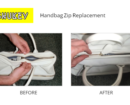 Shukey Leather Repair - Before & After Leather Handbag Zip Replacement
