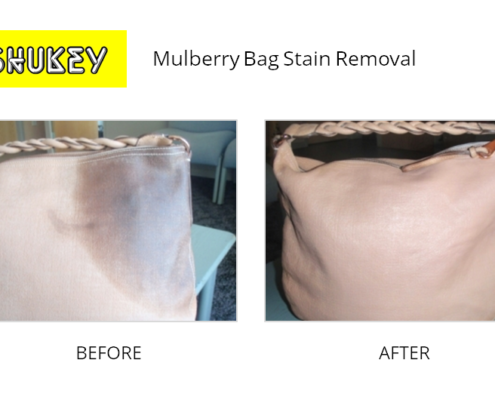 Shukey Leather Repair - Before & After Mulberry Bag Stain Removal