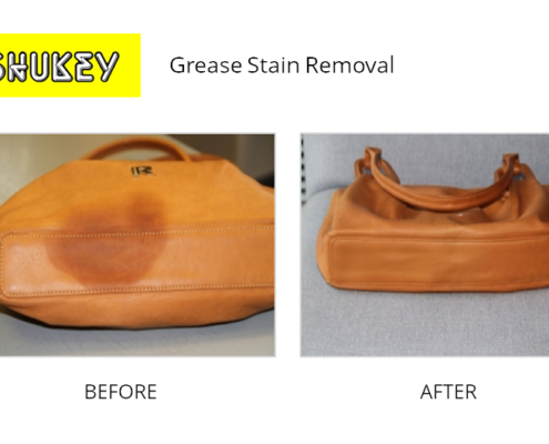 Shukey Leather Repair - Before & After Grease Stain Removal