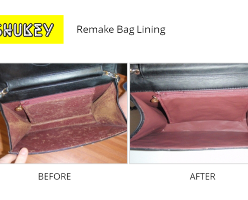 Shukey Leather Repair - Before & After Remake Bag Lining