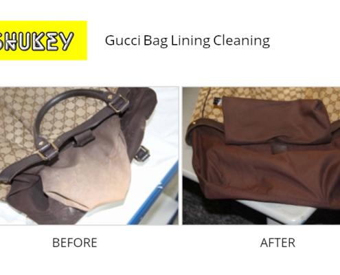 Shukey Leather Repair - Before & After Gucci Lining Cleaning