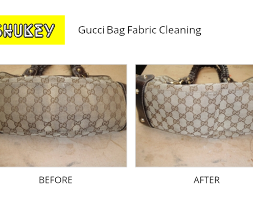 Shukey Leather Repair - Before & After Gucci Bag Fabric Cleaning