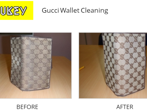 Shukey Leather Repair - Before & After Gucci Wallet Cleaning
