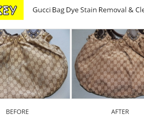Shukey Leather Repair - Before & After Gucci Bag Dye Stain Removal & Cleaning