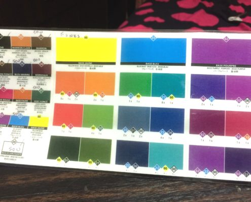 Shukey Leather Repairs Color Matching Chart