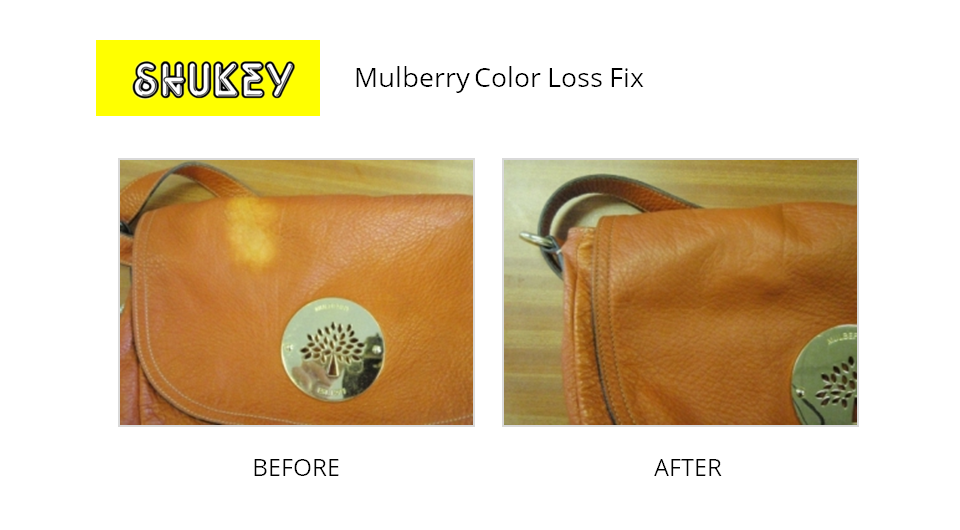 Shukey Leather Repair Before After Mulberry Color Loss