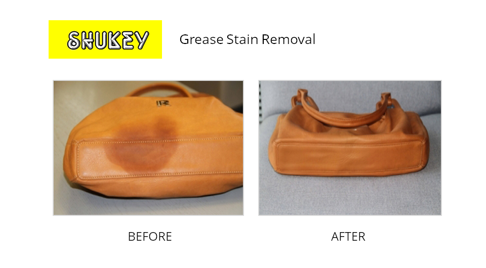 Shukey Leather Repair Before After Grease Stain Removal
