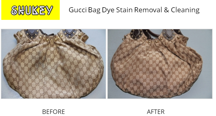Shukey Leather Repair Before After Gucci Bag Dye Stain Removal Cleaning